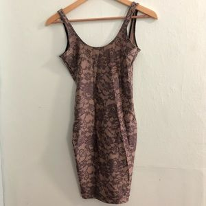 American Apparel Nude Lace Bodycon Dress